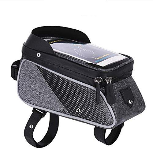 Soporte para teléfono móvil de Bicicleta Funda Protectora Soporte Impermeable portabicicletas-Negro