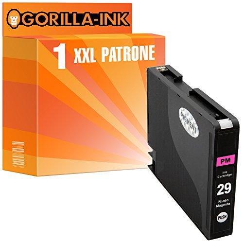 Gorilla de Ink 1impresora de tinta XXL compatible para Canon PGI-29Photo Magenta