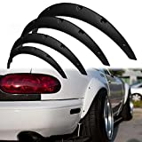 GTP 4X JDM Universal Fender Flares Wide Body Kit 2 inch (50mm) 3 inch (75mm) Over Wheel Arch Extension Set Front & Rear