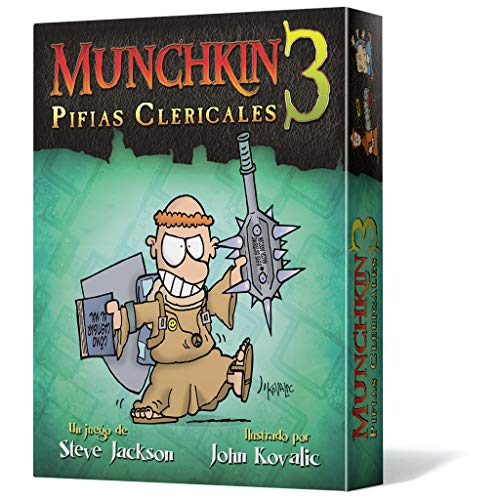 Edge Entertainment - Munchkin 3: Pifias clericales, juego de mesa