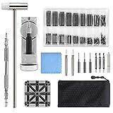 Uhrenwerkzeug, Qfun uhrmacherwerkzeug Set Federstege Uhrenarmband Werkzeug für Uhrmacher mit Extra Pins, Premium Edelstahl Federstege