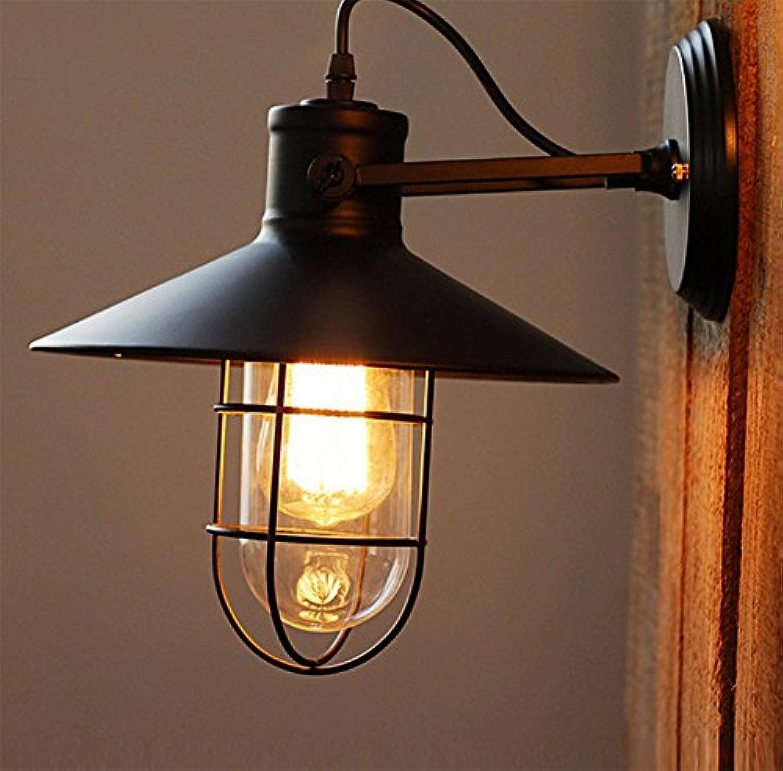 Retro-gang Wandlampe,Eisen Art schwarz Restaurant Bar Café Wandleuchte