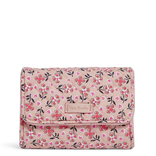 Vera Bradley Signature Cotton Riley Compact Wallet with RFID Protection, Sweethearts and Flowers