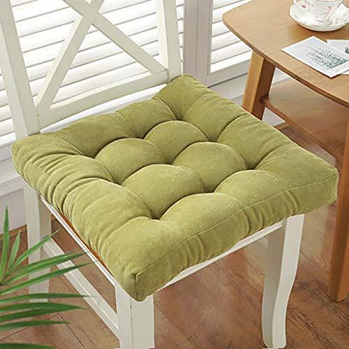 ZBBN Cuscino Quadrato per sedili per Sedia, Cuscino per Rialzo Addensato, Cuscino per Pavimento Antiscivolo Cuscino per Sedia Quadrato in Tinta Unita per Sedia da Pranzo per Ufficio Domestico -a