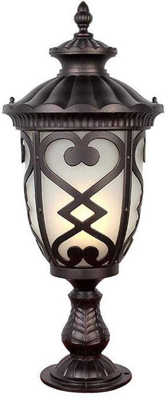 MICHEN Apparec o a Colonna LED in Fusione di tuttiuminio per InsDimensionezione da palo da Giardino,24  24  69cm