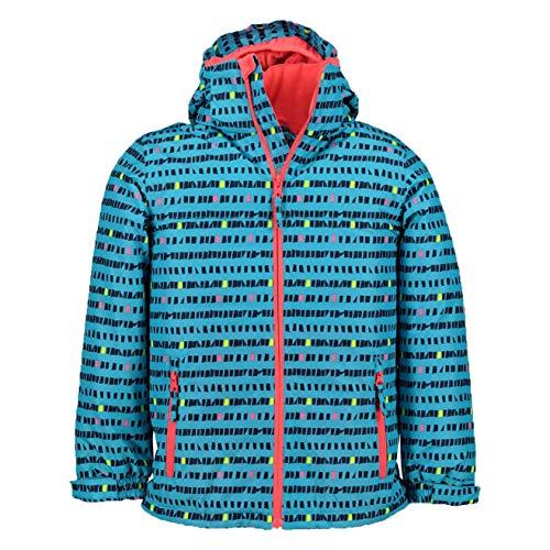 McKINLEY Toni II Kinder Winterjacke Skijacke, Größe:104, Farbe:AOP/Turquiose
