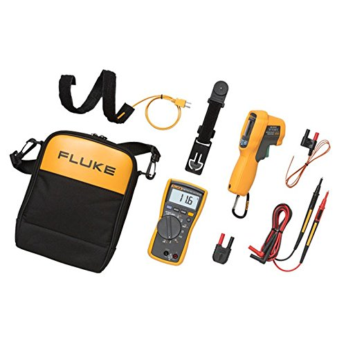 Fluke 116 HLK Multimeter, HVAC Multimeter and IR Thermometer Kit, 1