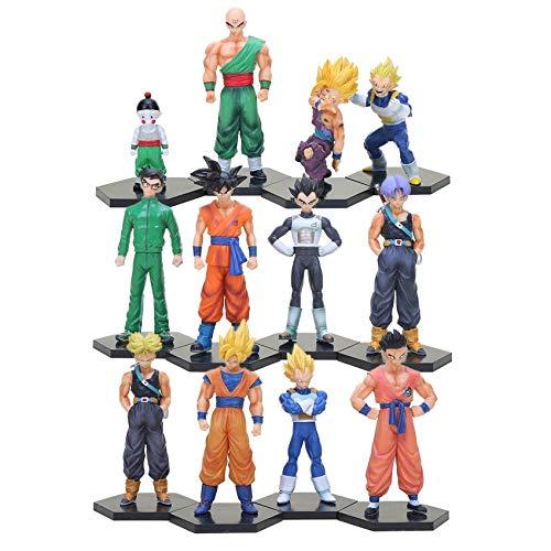 12 Teile / Satz Dragon Ball Z Sohn Gohan Goten Tien shinhan Vetega Chiaotzu Badehose Goku PVC Action-Figuren Dragonball Modell Spielzeug