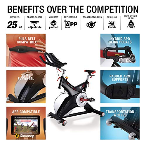 Sportstech-Professional-Indoor-Cycling-Exercise-Bike-SX500-German-Quality-Brand-Video-Events-Multiplayer-APP-25KG-Flywheel-pulse-belt-compatible-Speedbike-Studio-Quality-SPD-Clicksystem-eBook
