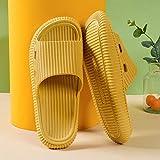 ZZLHHD ChanclasdecueroComfortparamujerParejacasainteriorzapatillas-Yellow_41Chanclasdeanimales