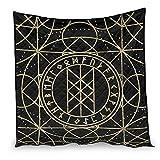 YshChemiy Viking Runes - Edredón de algodón para el hogar, funda de cama suave, manta personalizada, ropa de cama para niños y niñas, blanco 173 x 203 cm