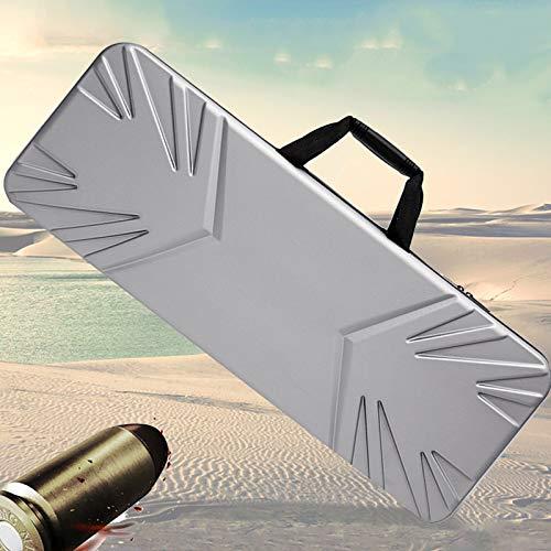 TBDLG Silbergraue Airsoft-waffentasche mit Harter Schale, Kompressions-, Fall- Und Wasserdichter Waffentasche, Multifunktionsbeutel, Wasserbombenpistole, Präzisionsinstrument,100CM