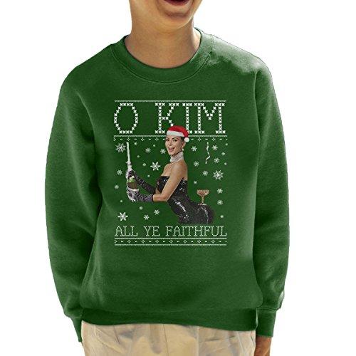 Cloud City 7 O Kim All Ye Trouwe Kardashian Kerst Knit Kid's Sweatshirt