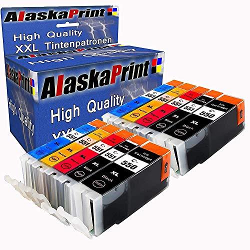 10x Druckerpatronen Komp. Für Canon PGI-550XL 550 XL CLI-551XL 551 XL mit Pixma IP7250 IP-7250 MX925 MX-925 IX6850 IX-6850 MX725 MX-725 MG5450 MG5550 MG5650 MG6350 MG6450 MG6650 MG7150 MG7550 Patronen