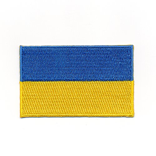 hegibaer 60 x 35 mm Ukraine Flagge Kiew Europa Ukrajina Flag Aufnäher Aufbügler 1097 B