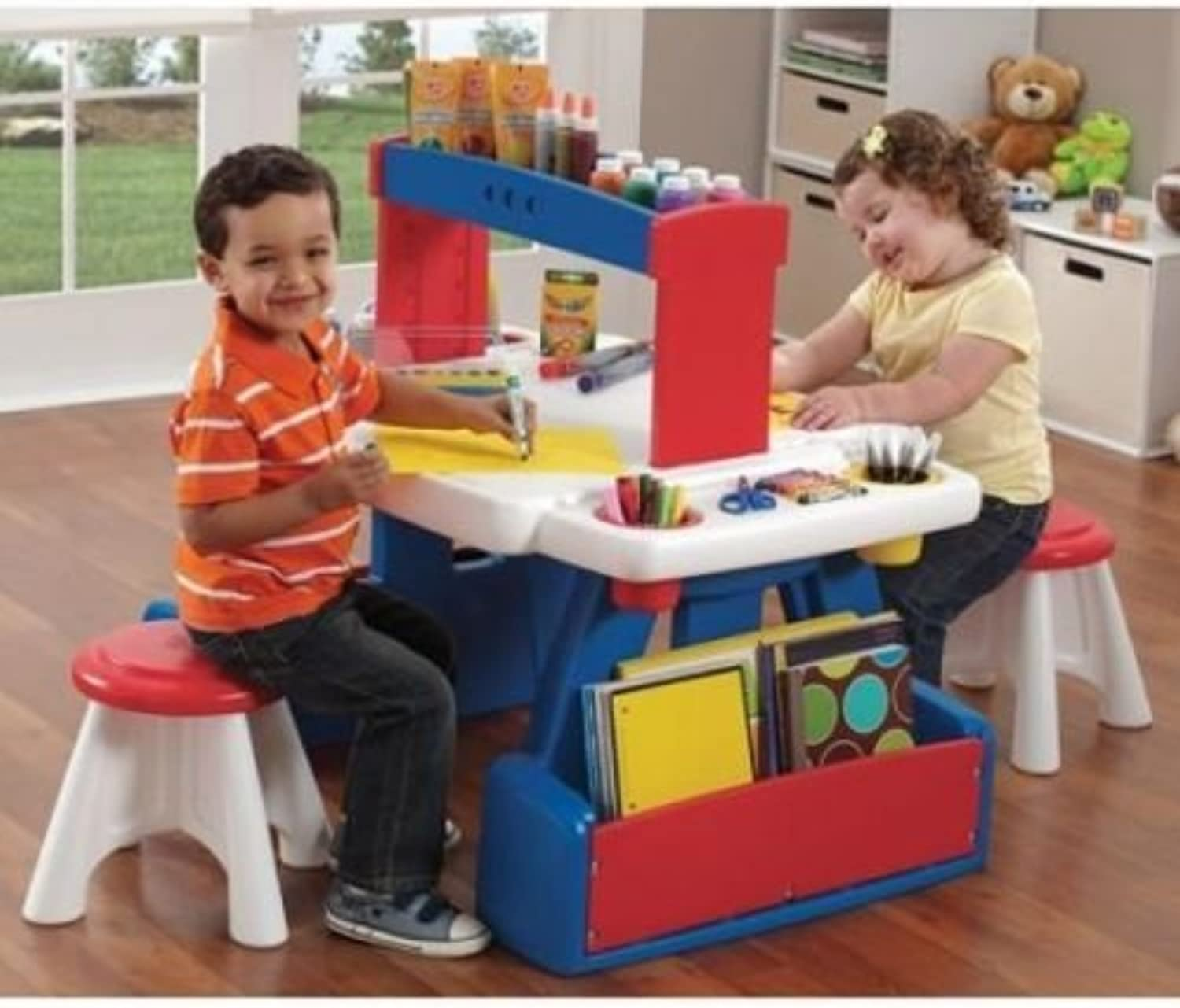 Generic .. d Chairs Wi Kids Activity Table ivity Tab Storage Plastic With Stora Toddler Furniture c Todd And Chairs With re Play Play Set Furnitur ..