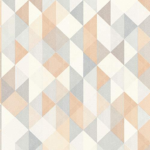 Vliestapete Vintage-Tapete 367862 36786-2 A.S. Création Scandinavian 2 | Beige/Crème Braun Grau | Muster (21 x 29,7 cm)