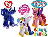Ty Beanie Babies My Little Pony Princess Cadence, Princess Luna & Princess Celestia Gift Set Bundle - 3 Pack