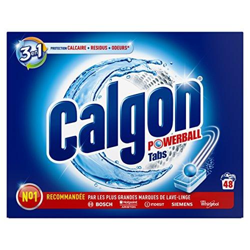 Calgon 3-in-1-Entkalker und Reiniger für die Waschmaschine, 48 Tabs