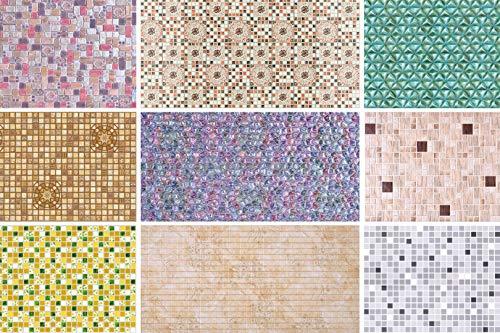 1 Platte | Dekorpaneele | Mosaik | Wand | PVC | stabil | 95,6x48 cm | 52757