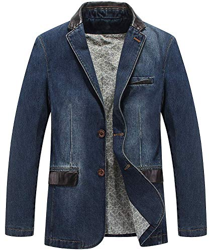 Mode Trend Herrenbekleidung Frühling Herbst Geschäft Freizeit Denim Anzugjacke Herren Groß Fashionable Completi Größe Lose Jeanssakko Blazer Jacke Men Cowboy Suit Jacket Coats