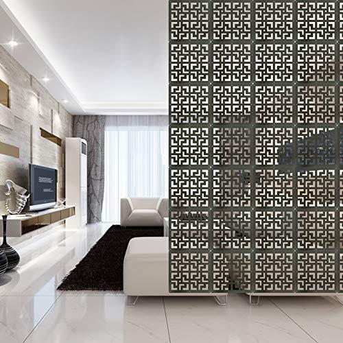 Y-Step - Paravento da appendere in legno, 9 pannelli, divisore per stanze da letto, salotto, studio, hotel, ufficio, decorazione per locali Ebano