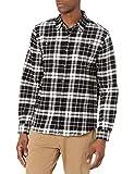 True Religion Men's Long Sleeve T-Shirt, Black Plaid, X-Large