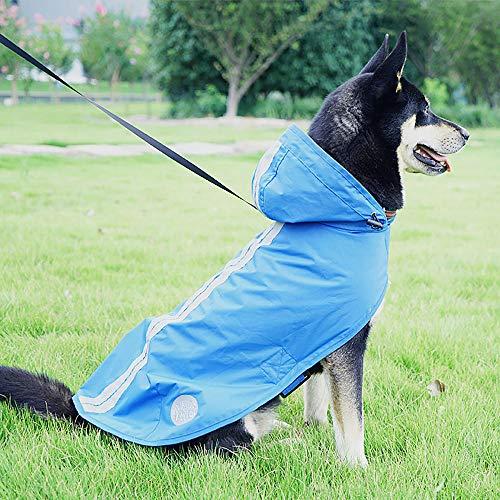 Gulunmun Impermeabili per Cani Giacca Antipioggia Impermeabile Impermeabile Antivento Giacca da Neve Inverno Caldo Riflettente per Escursioni a Piedi itinerante...