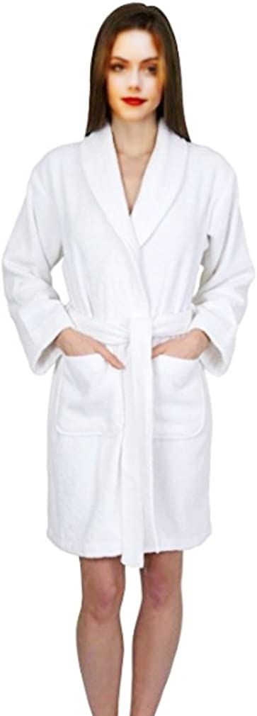 ELEGANI Women's Short Terry-Bathrobe Dallas Mall Branded goods Turkish-Cotton