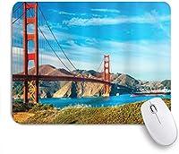 VAMIX マウスパッド 個性的 おしゃれ 柔軟 かわいい ゴム製裏面 ゲーミングマウスパッド PC ノートパソコン オフィス用 デスクマット 滑り止め 耐久性が良い おもしろいパターン (サンフランシスコゴールデンゲートブリッジ夏の空晴れた日海石観光名所画像)