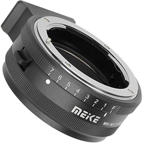 Lente Adaptador Mount Adaptador para objetivo de Nikon F a Micro Cuatro Tercios de Olympus Panasonic cámara Olympus E PM E-P5 E-M1 E-M5 E-M10 E-PL5 E-PL6 E-PL7 etc – PANASONIC GF5 gf6 GM1 GM5 GX1 GX7