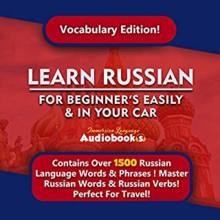 Learn Russian for Beginners Easily & in Your Car! Vocabulary Edition! audiobook cover art