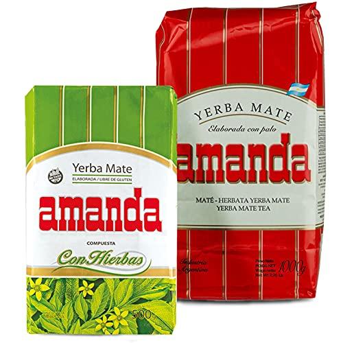 Juego de té Yerba Mate Amanda Tradial 1 kg + Amanda Elaborada...