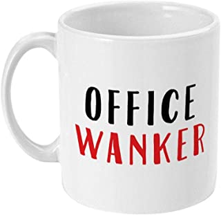 WTOMUG Funny Words Mug Funny Office Wanker Joke Coffee Mug Gift For Colleague Or Workmate Offensive Coffee Cup For Him I G...