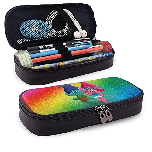 Trol-Ls - Estuche de lápices de diseño moderno y suave, bolsa de almacenamiento de gran capacidad, ideal para niños y niñas, unisex