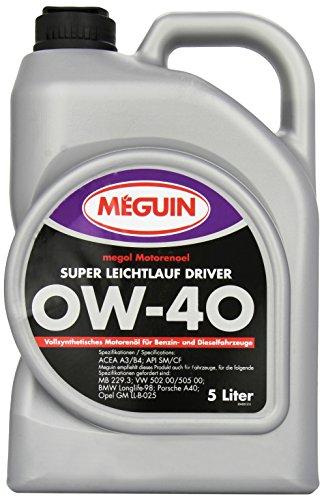 Meguin 4895 Megol Super LL Driver SAE 0 W-40, 5 L