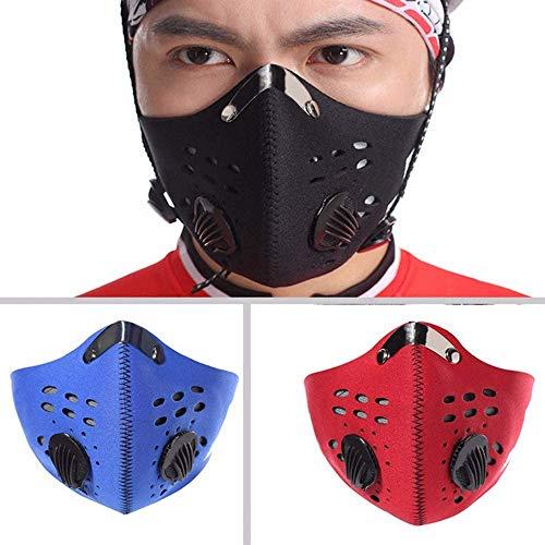 NA ZgTUNo Radfahren Gesichtsmasken Mit Filter Half Face Carbon Fahrrad Bike Outdoor Sprossen