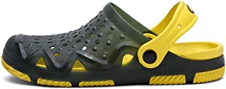 KCPer Mens Womens Garden Clogs Mesh Slippers Sandals Summer Beach Shoes Lightweight Outdoor Hook Hollow Out Casual Breathable Walking Slippers