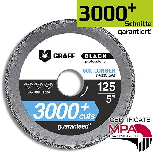 Disco de Corte GRAFF Black 115mm / 125mm para Amoladora Angular, Disco...