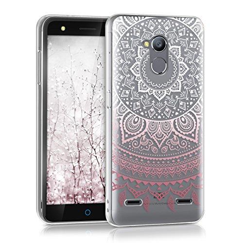 """kwmobile Hülle kompatibel mit ZTE Blade V7 Lite (5\"""") - Handyhülle - Handy Case Indische Sonne Rosa Weiß Transparent"""
