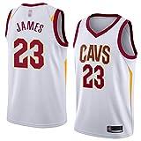 XXMM NBA Basketball Jersey, Cleveland Cavaliers # 23 Lebron James Jersey, Chaleco De Uniformes Transpirables para Hombres, Ropa Deportiva De Entrenamiento Sin Mangas,XL(180~185CM)