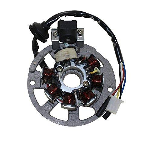 Lichtmaschine Stator Version 1 3Pins und 2 Kabel für Roller Baotian, Keeway, CPI