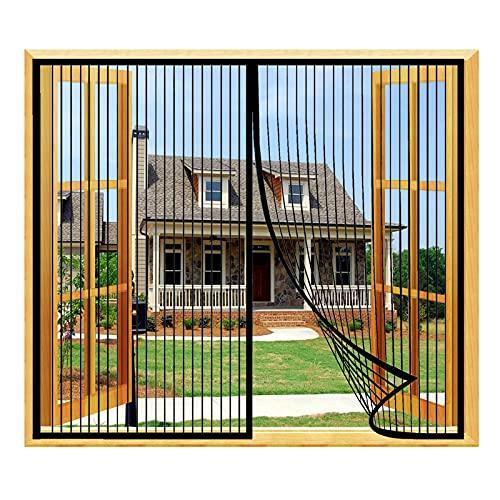 SYUS Magnetische Fenstergitter Netzgitter,Fensternetz Fliegengitter Fenster Moskito Vorhang Ohne Bohren Fliegenvorhang Insektenschutzgitter für Wohnzimmer Campervan Balkon Fenster