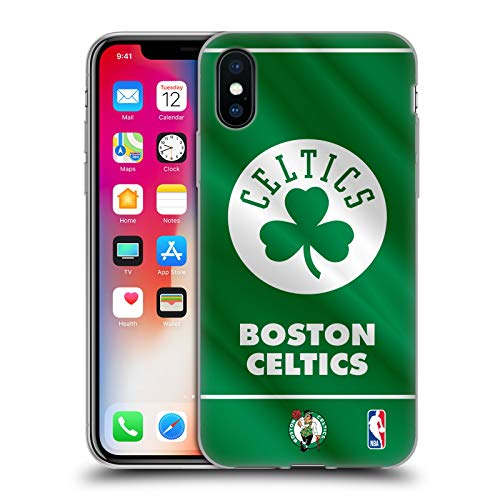 Head Case Designs Licenza Ufficiale NBA Banner 2019/20 Boston Celtics Cover in Morbido Gel Compatibile con Apple iPhone X/iPhone XS