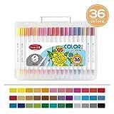 Set de bolígrafos de acuarela lavable para niños de 36 colores, bolígrafo de acuarela de punta blanda de doble cabeza para estudiantes, bolígrafo de pintura de arte para jardín de infantes, bolígrafo