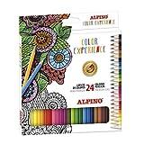 Lápices de Colores Alpino Color Experience - Estuche de 24 Lápices de Dibujo Profesional con Colores Premium - Lápices para Mandalas y Lettering - Mina Premium