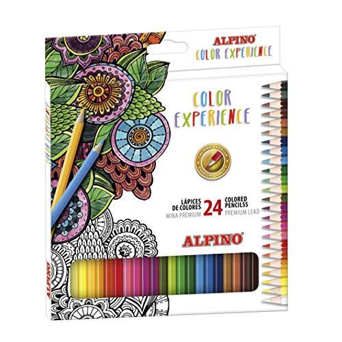 Lápices de Colores Alpino Color Experience - Estuche de 24 Lápices de...