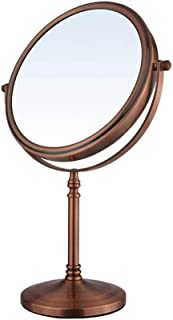 Double-Sided Retro Desktop Mirror Portable disassembly Mirror 360 Degree Rotation 8 inch Magnifying Mirror