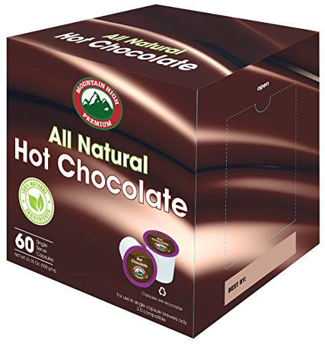 Mountain High All Natural Hot Chocolate K Cups 2.0 Compatible (Milk...