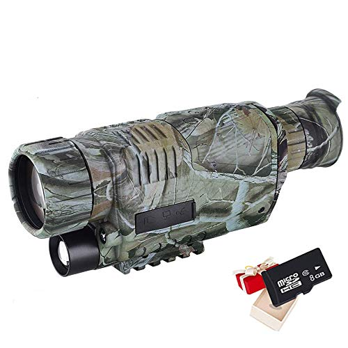 """Braveking1 Visore Notturno Digitale Monoculare, 5x40mm Night Vision per La Caccia 1.5"""" TFT Schermo 350m Distanza di Rilevamento Raggi Infrarossi HD Telecamera con Immagine e Video Funzione,Camuffare"""
